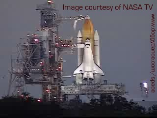 STS-103 sits on the launchpad last Sunday afternoon.