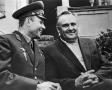 Cosmonaut Yuri Gagarin (left) with Sergei Korolyov in Moscow on Sept. 15, 1961(RIA-Novosti/Sovfoto photo via Yahoo! News)